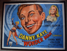 Wonder Man (1945) Danny Kaye  Film Poster - UK Quad
